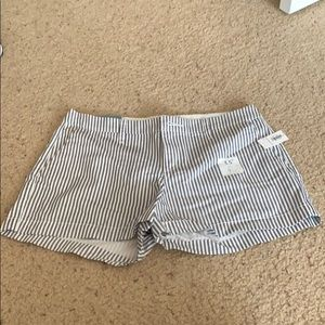NWT blue and white striped shorts